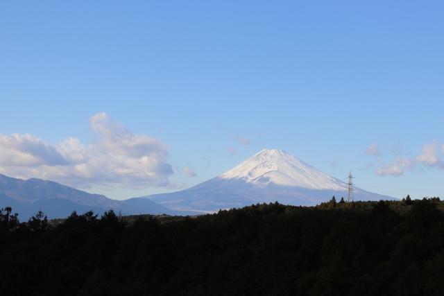 三島スカイウォークから見える富士山